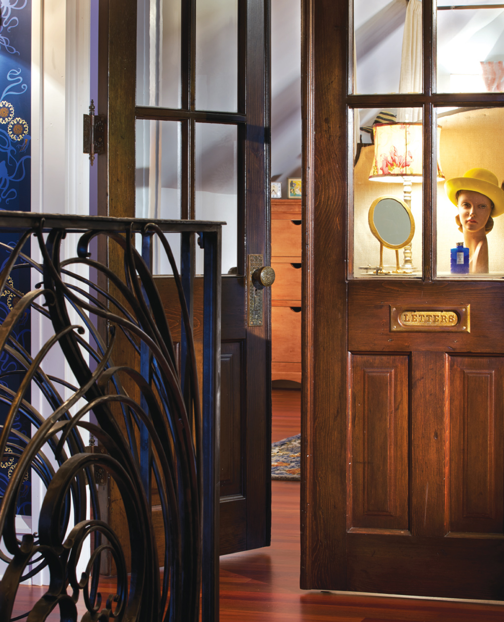 antique, french doors
