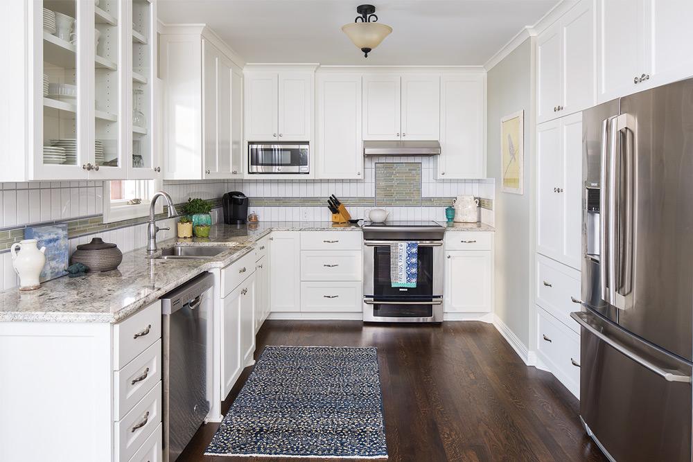 Herrick Design Group ASID white kitchen wood flood