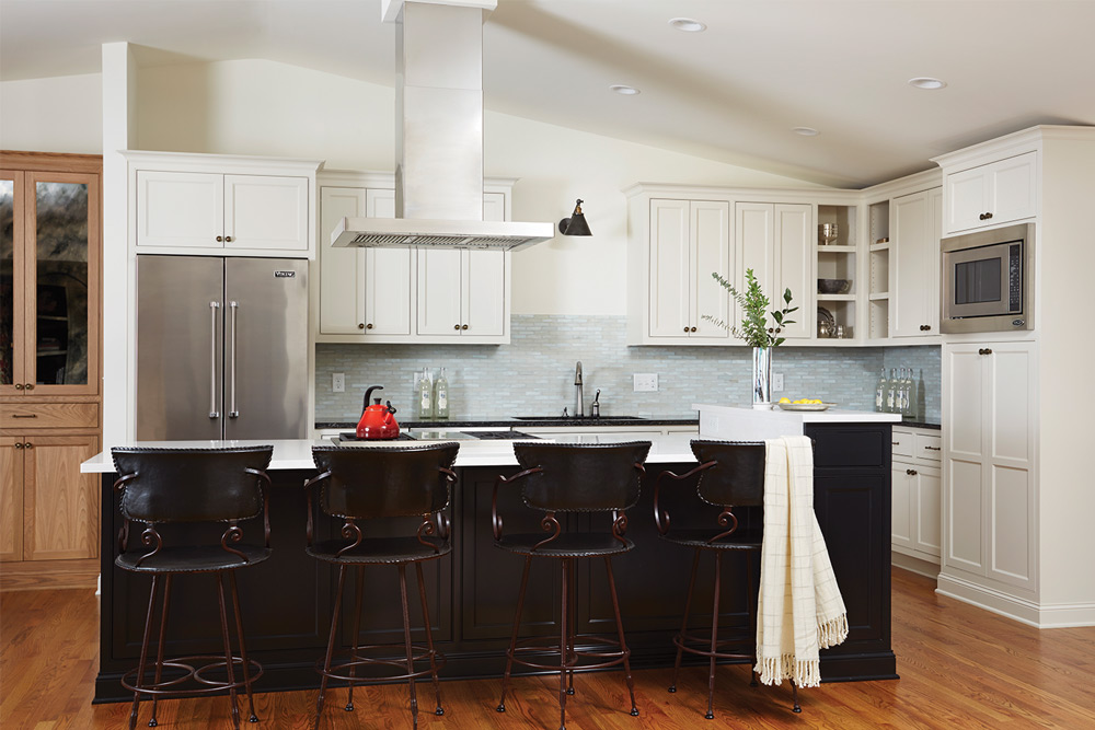 Inview Interior Design ASID Island in kitchen