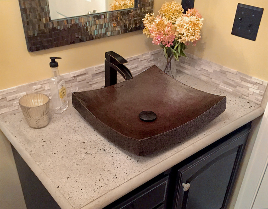 CopperSmith Gutter Company Detail bathroom sink