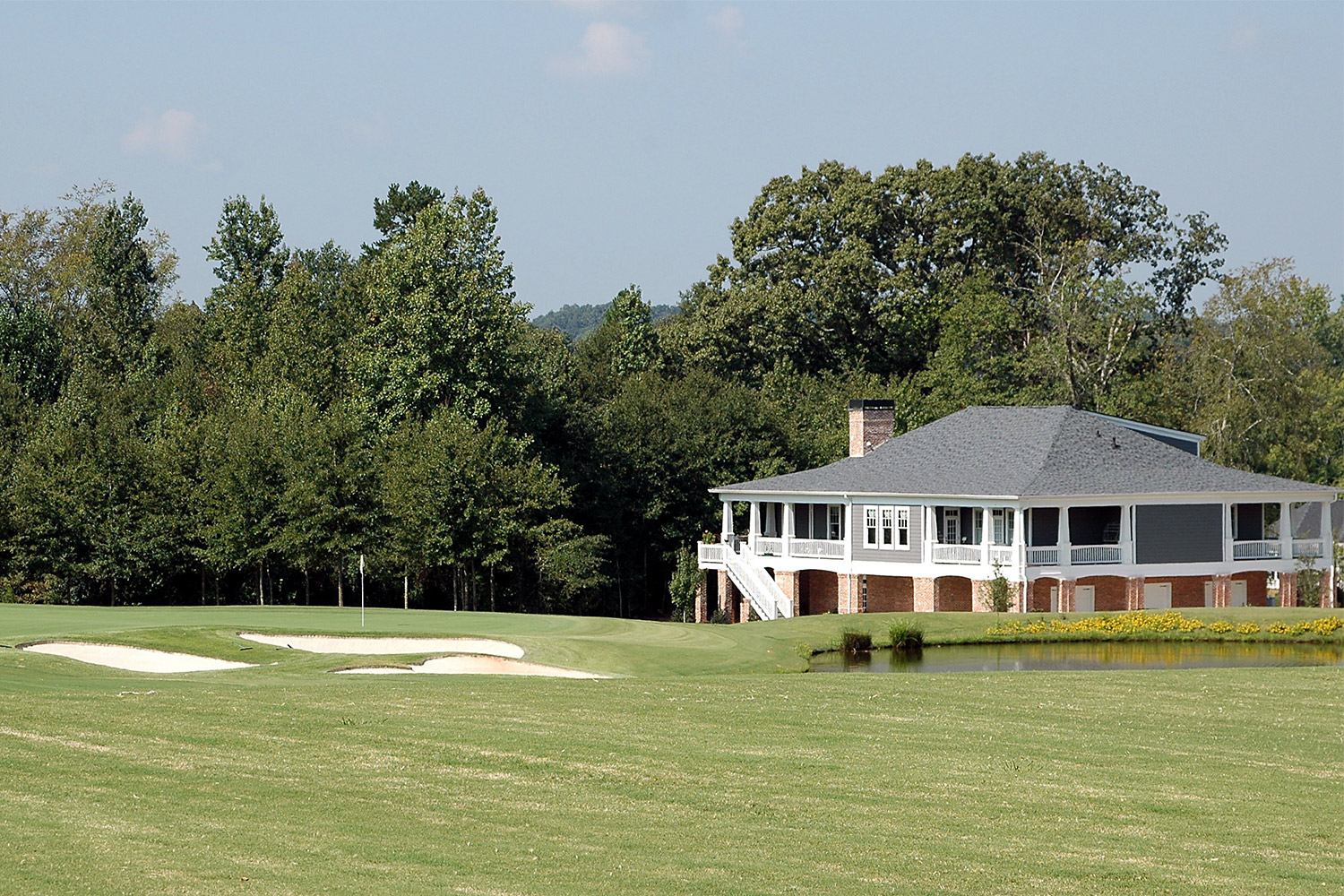 Large house on golf course