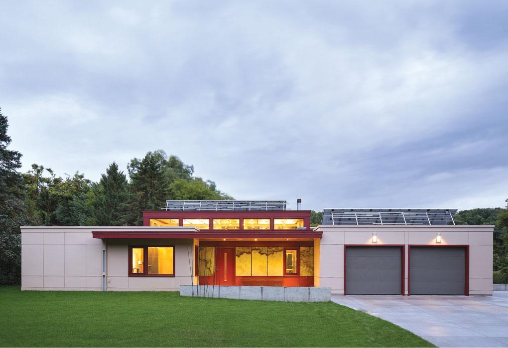 Exterior of Larson's Minnetonka Modern home