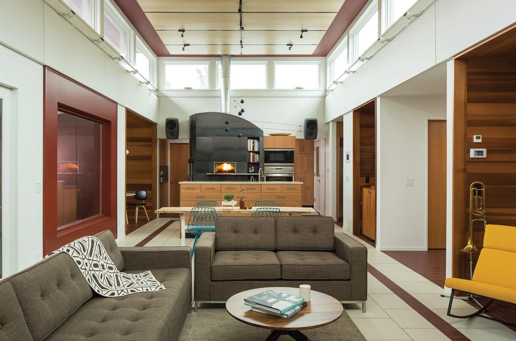 Living Space in Mark Larson's Minnetonka Modern House
