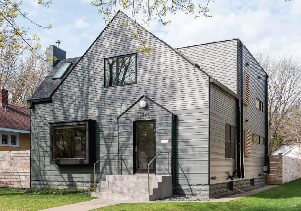 Charcoal gray exterior