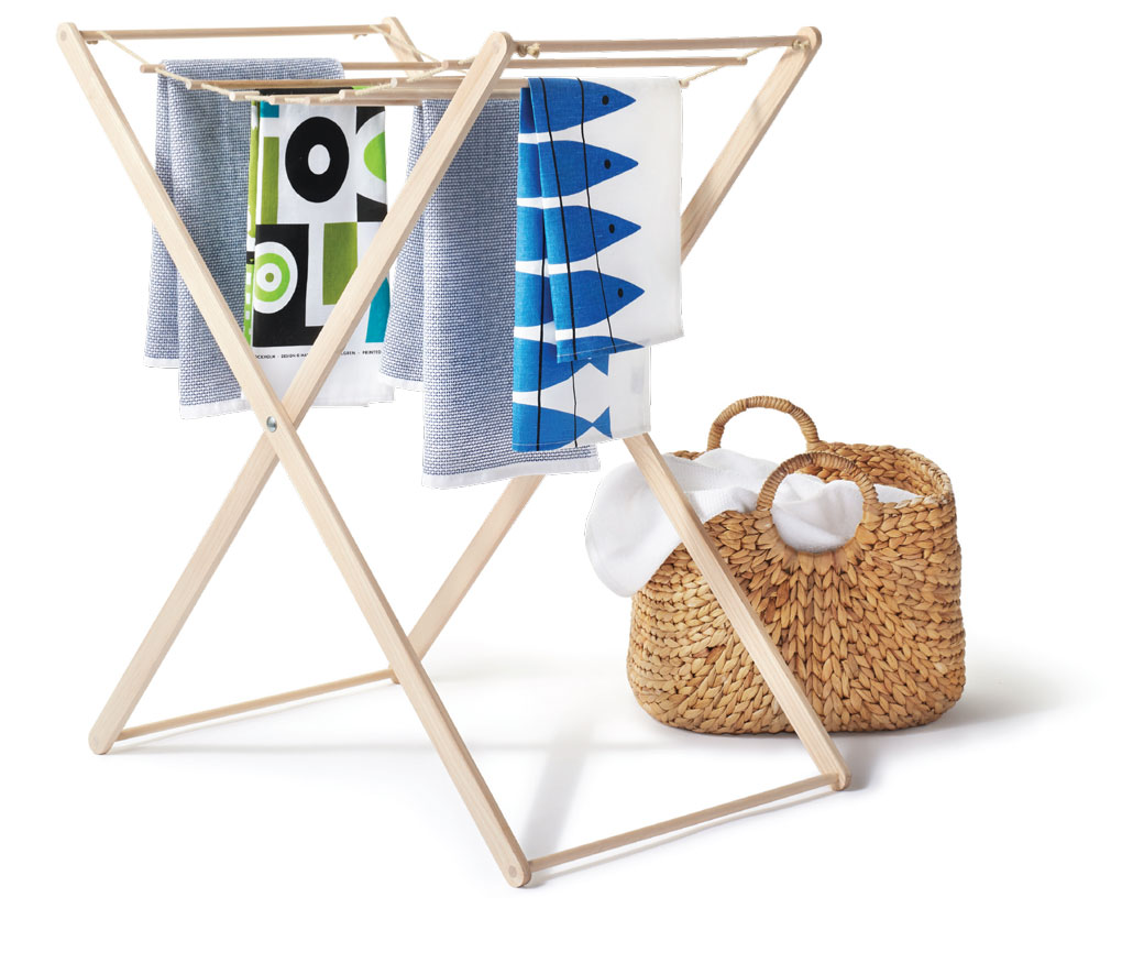 drying rack, towels, Foundry Home Goods