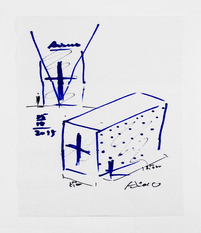 Tadao Ando Napkin Sketch