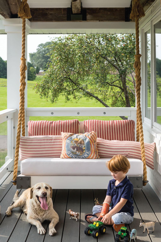 Mod Farmhouse Porch Swing