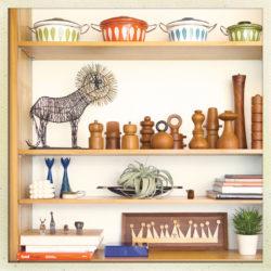 Shelves in the Kurths' Home
