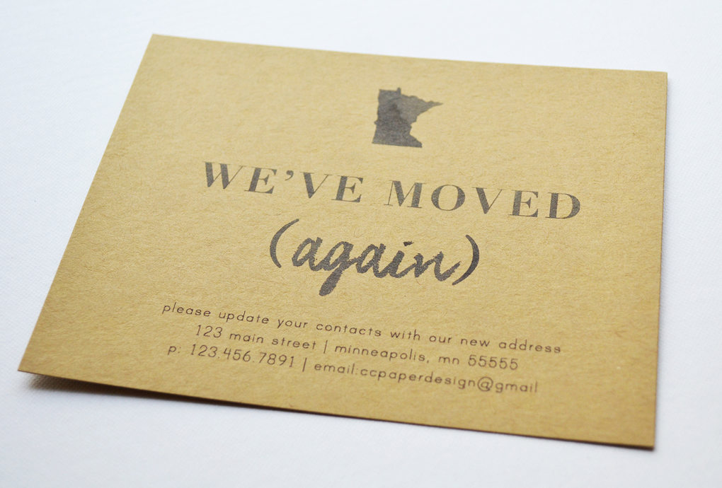 Moving Announcement MN