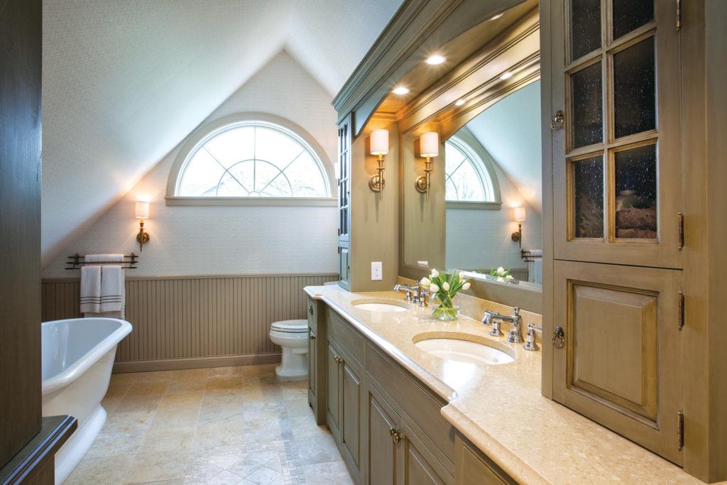 NKBA Bathroom with clawfoot tub and half circle window