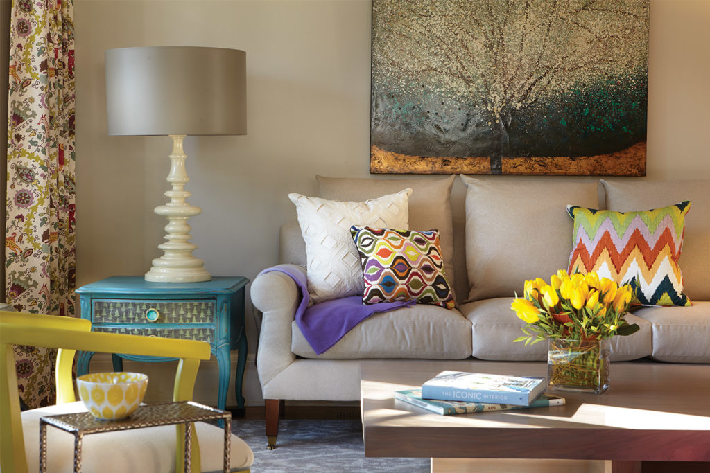 LiLuInteriors Colorful Living room