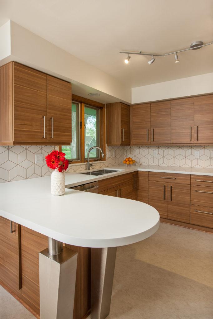 Remodeled kitchen interior by NKBA