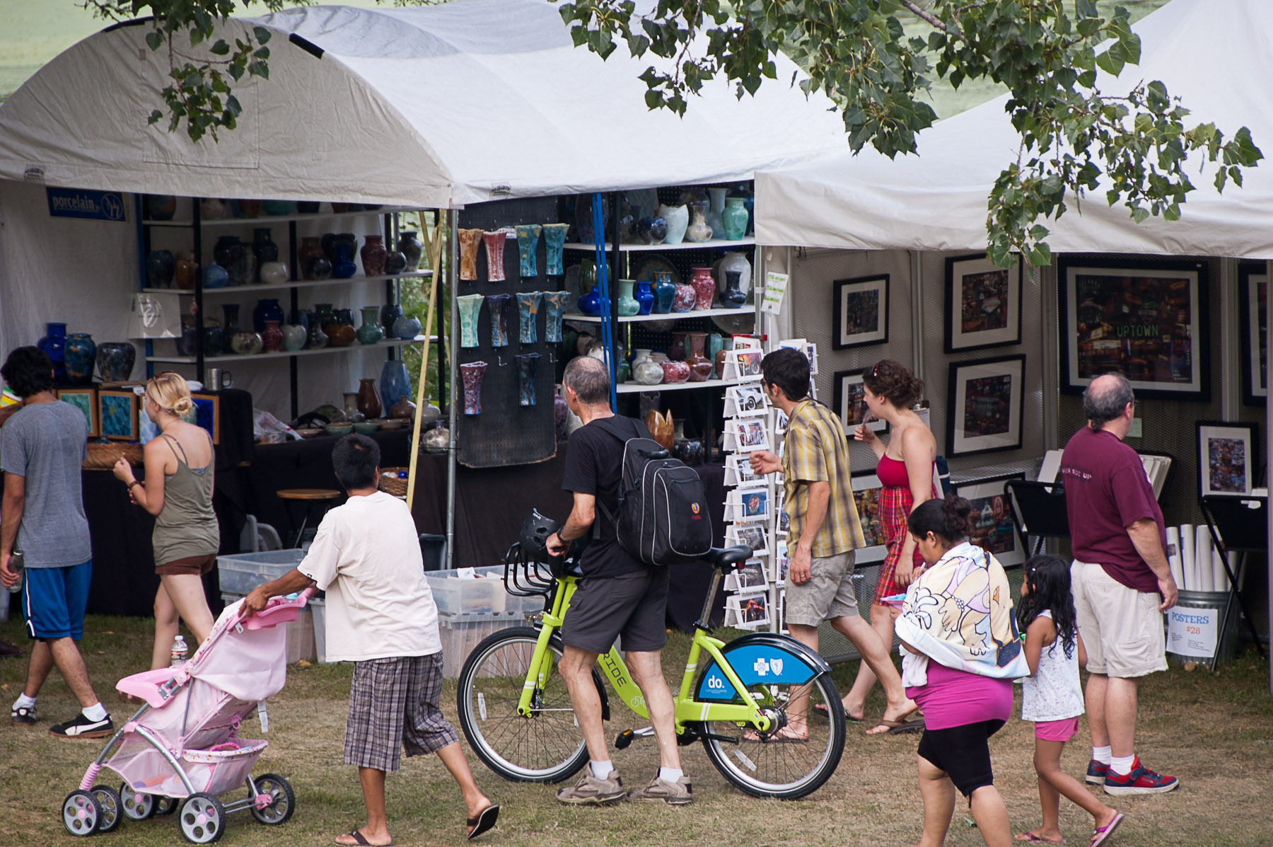Attendees at the Powderhorn Art Fair