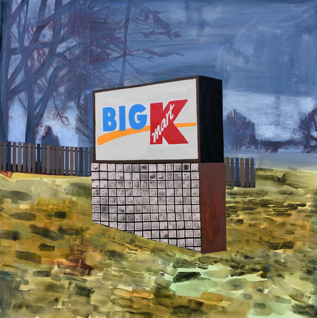 "Carolyn Swiszcz Big K, 2016 acrylic on panel, 36 x 36"" Courtesy of the artist"