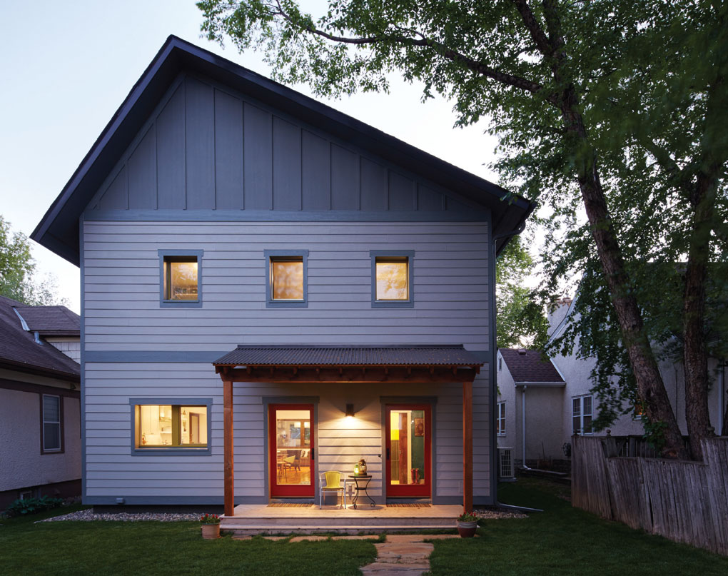 Back Exterior of Passive House