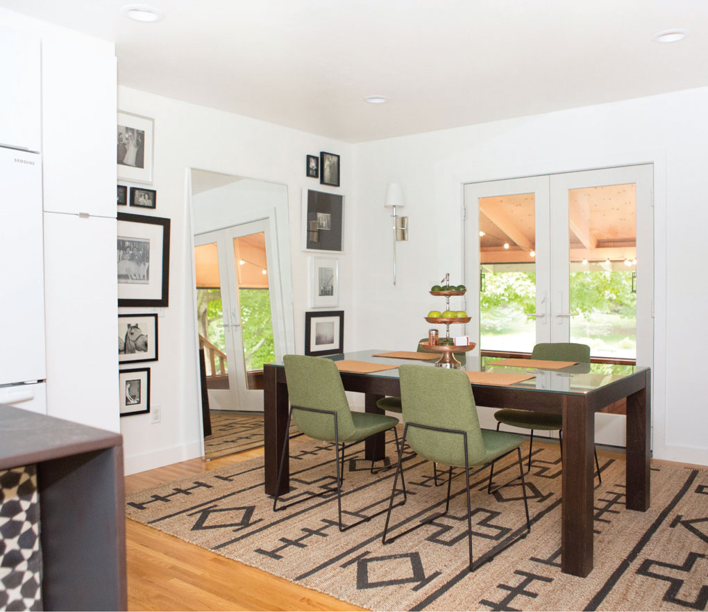Downsized dining room