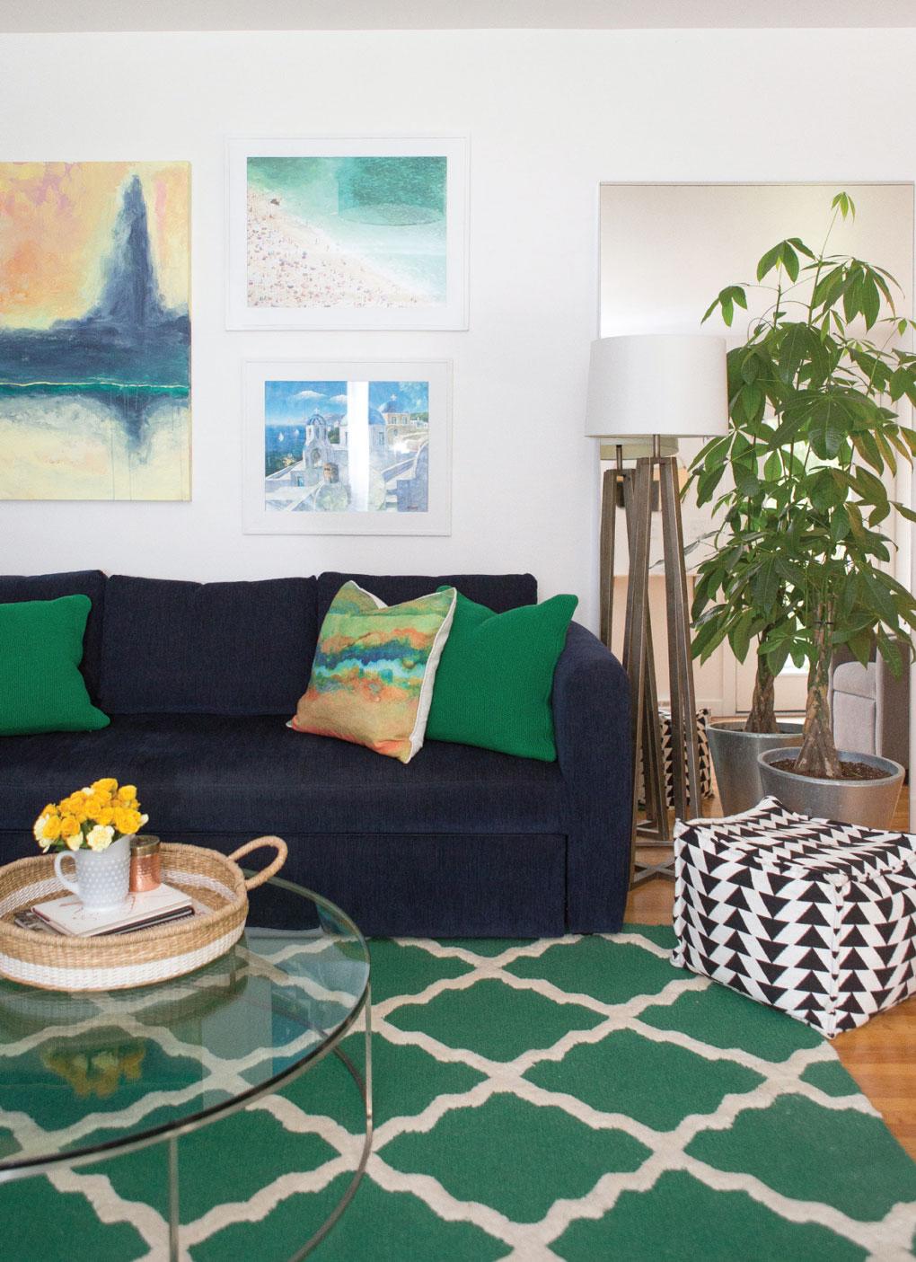 Downsized living room