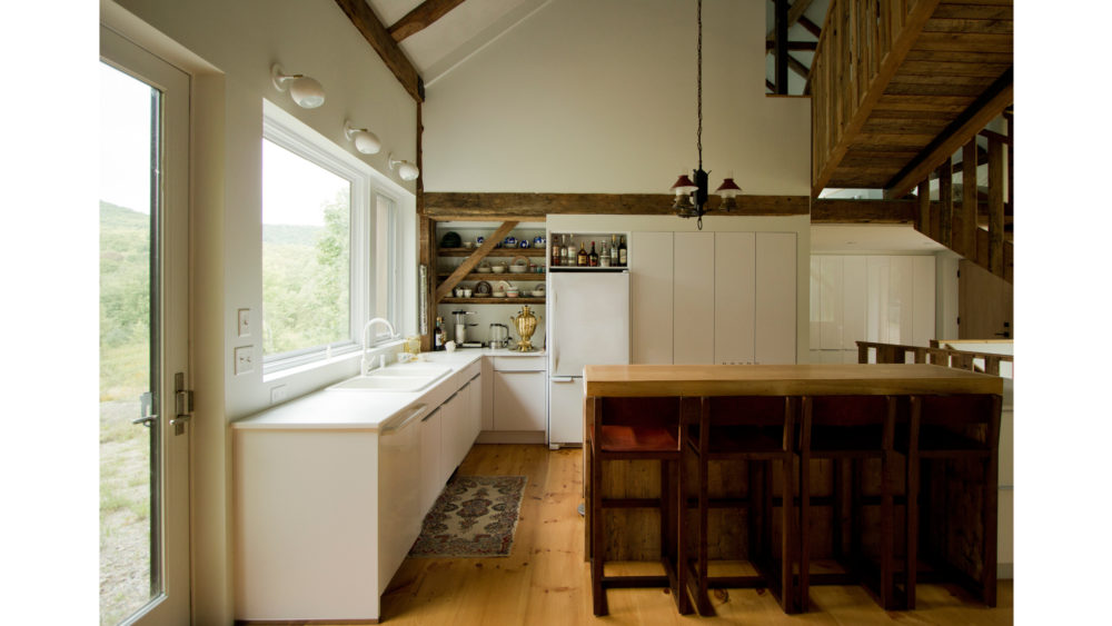BarnHouse interior in Winhall, Vermont