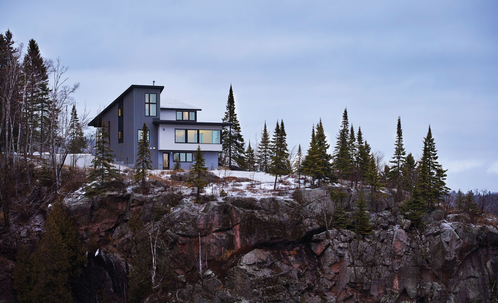 A home designed by Jody McGuire that overlooks Lake Superior on the North Shore.
