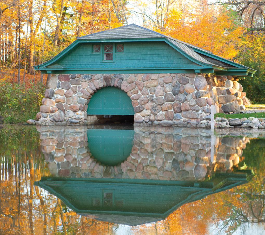 The Boulder Bridge Boathouse on Lake Minnetonka.