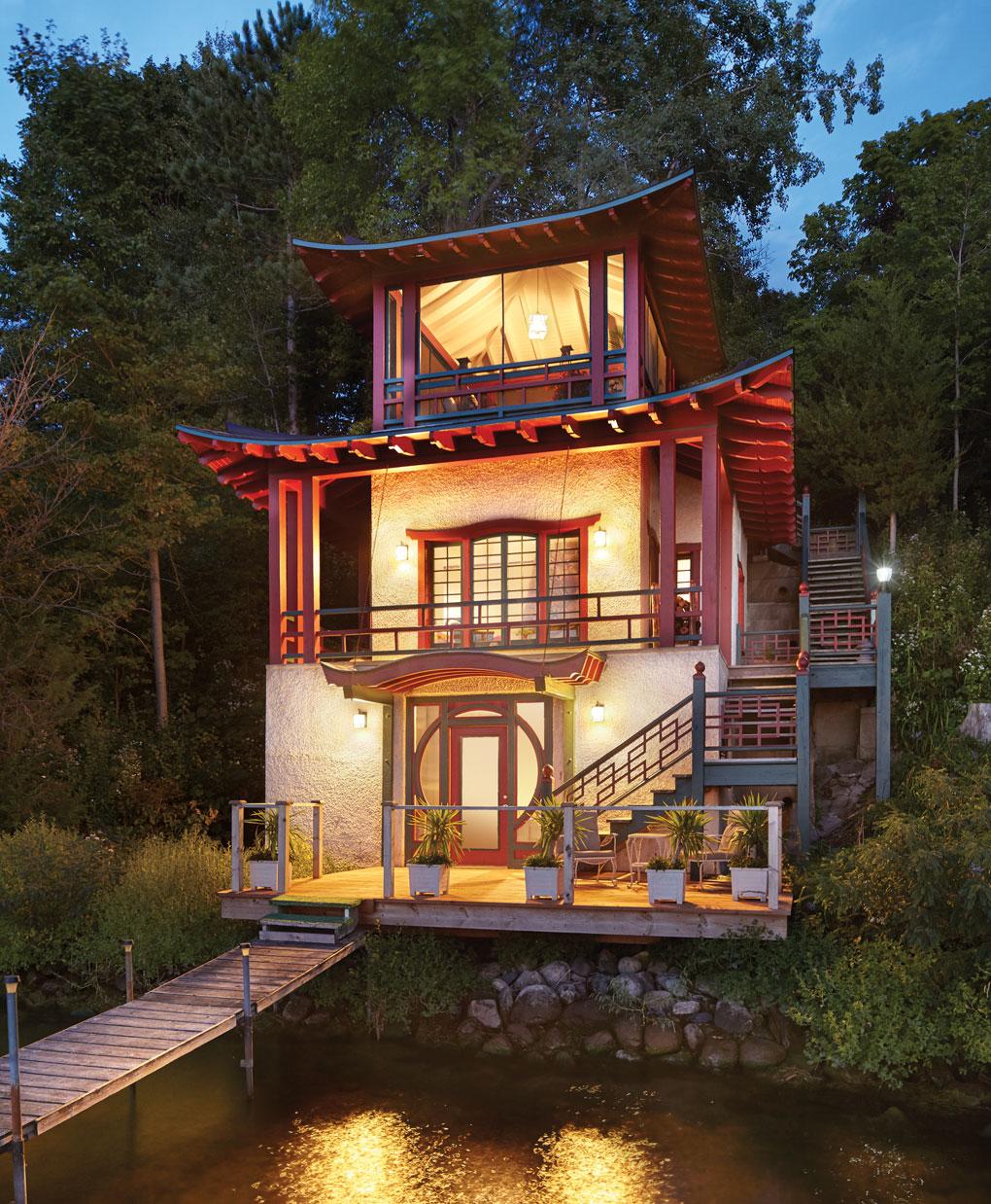 The Robbins-Scott Boathouse on Lake Minnetonka.