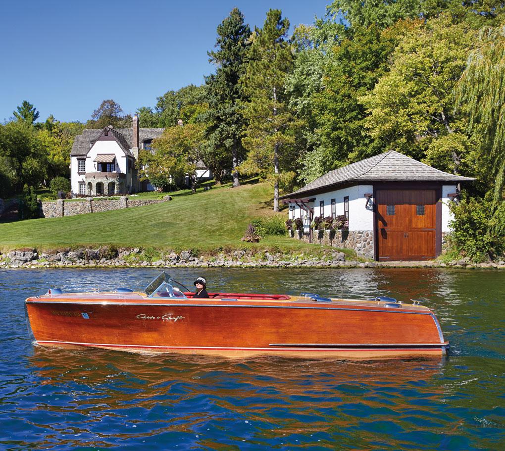 The Smaby-Jeronimus Boathouse on Lake Minnetonka.