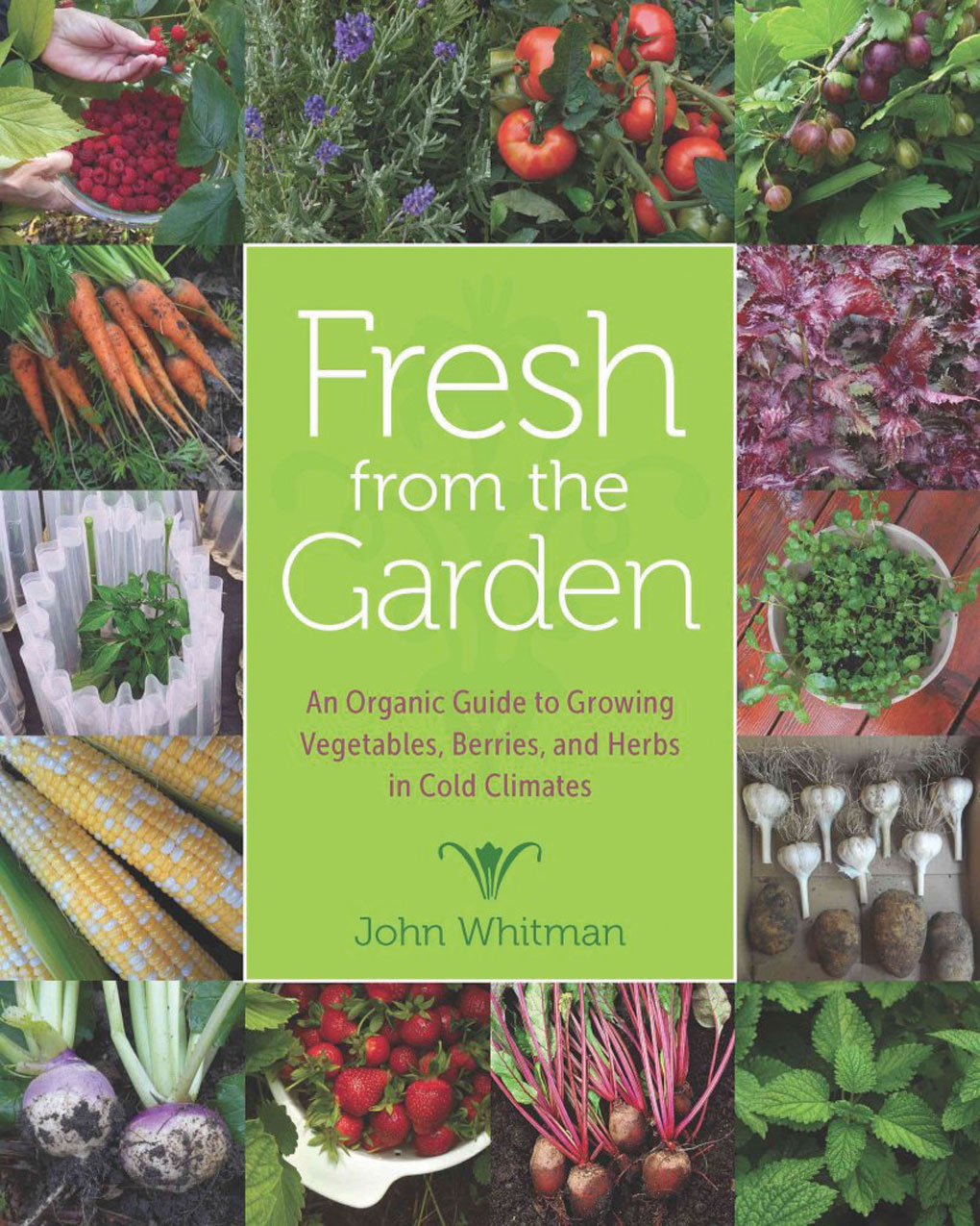 An image of the front cover of John Whitman's book Fresh from the Garden.