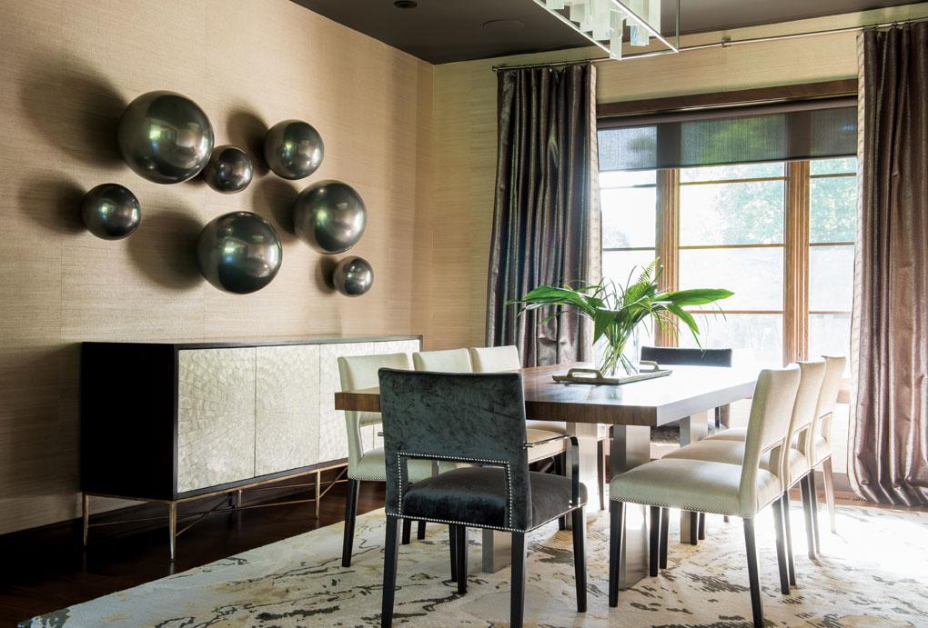 The dining room in Greg Jennings' Minnesota home.