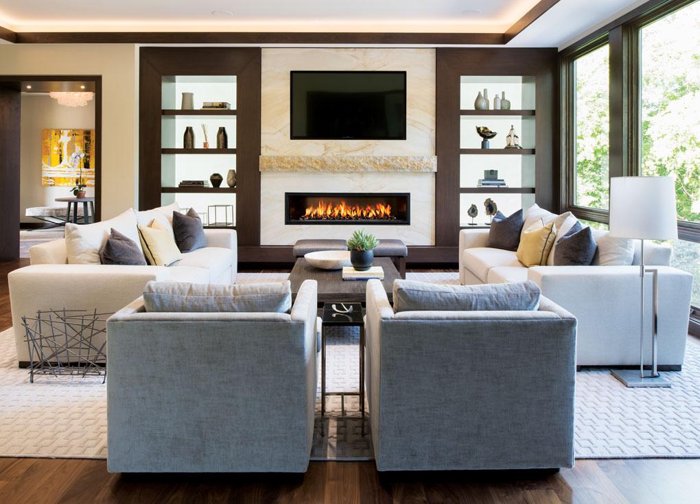 The living room in Greg Jennings' Minnesota home.