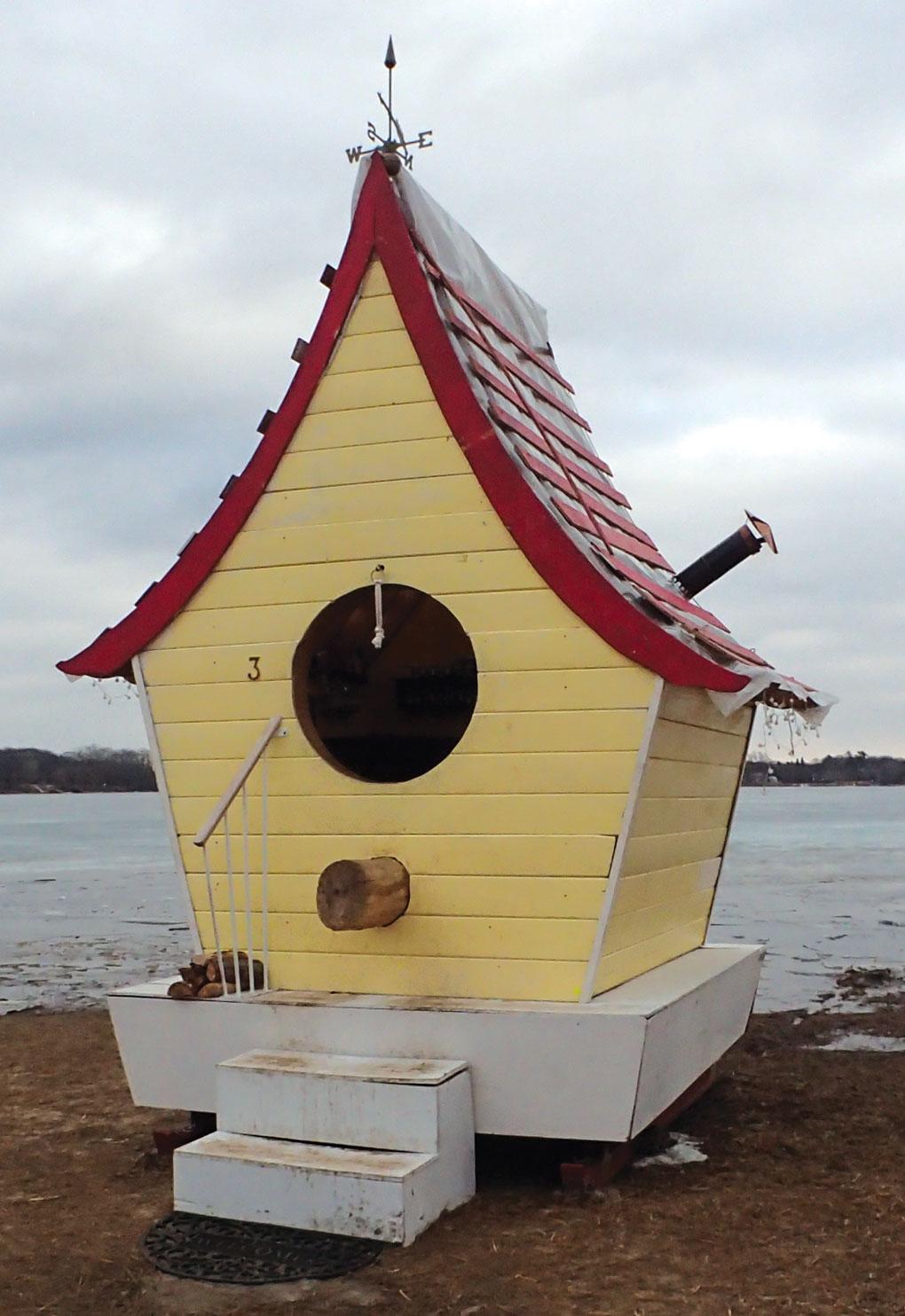 Minnesota Landscape Arboretum's Amazing Spaces, Places and Escapes: Re-imagining Treehouses Arthur JE Wren Birdhouse exterior