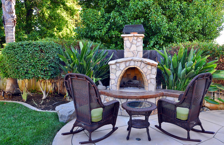 backyard garden and seating