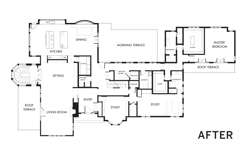 """An """"after"""" of a floor plan."""