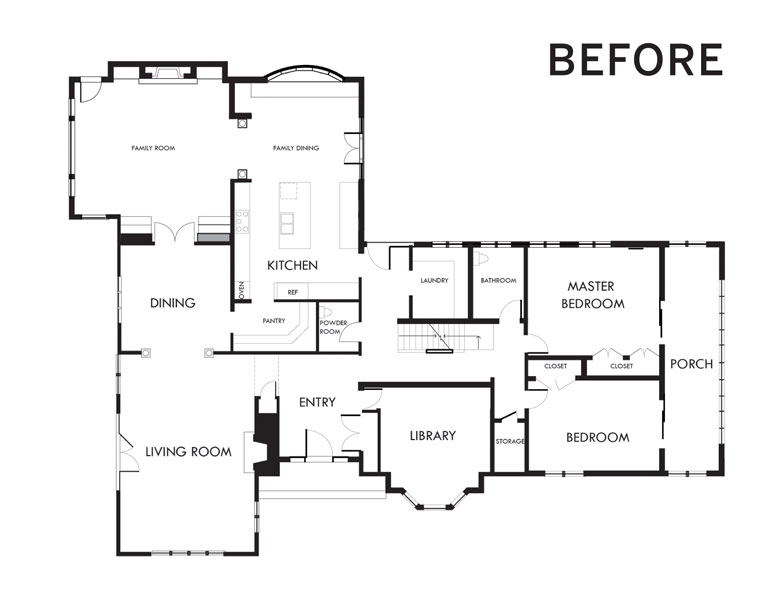 """A """"before"""" photo of a floorplan."""