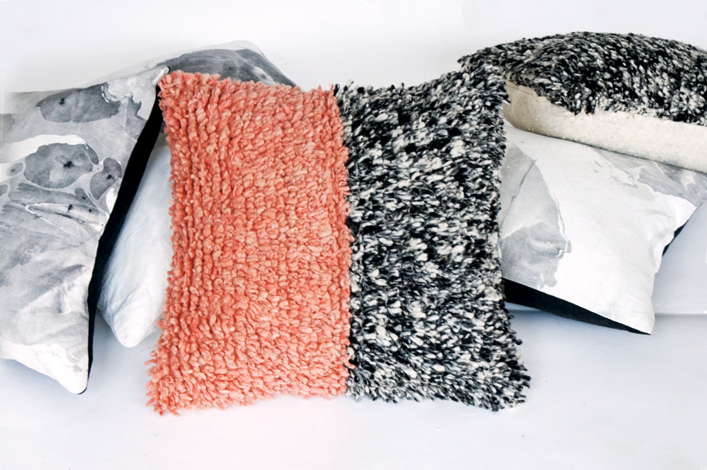 A set of pillows by Willful.