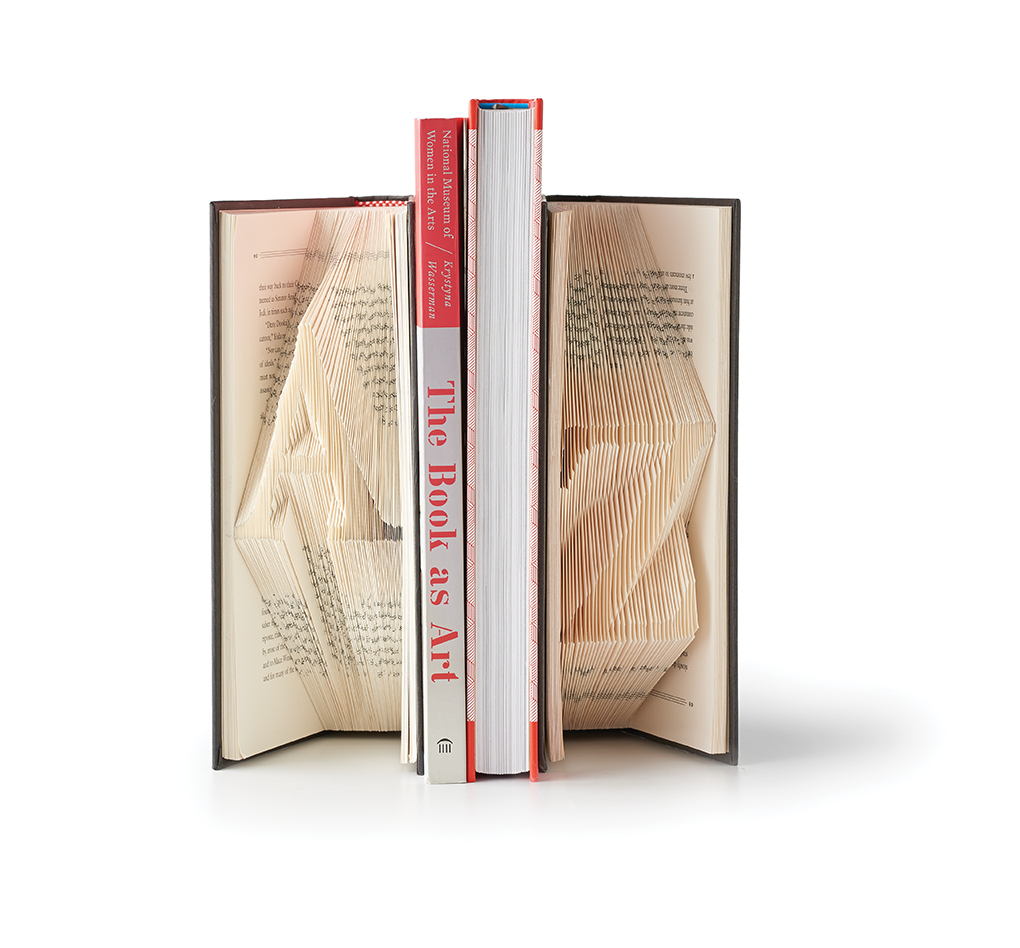 Bookend letters A-Z book art.