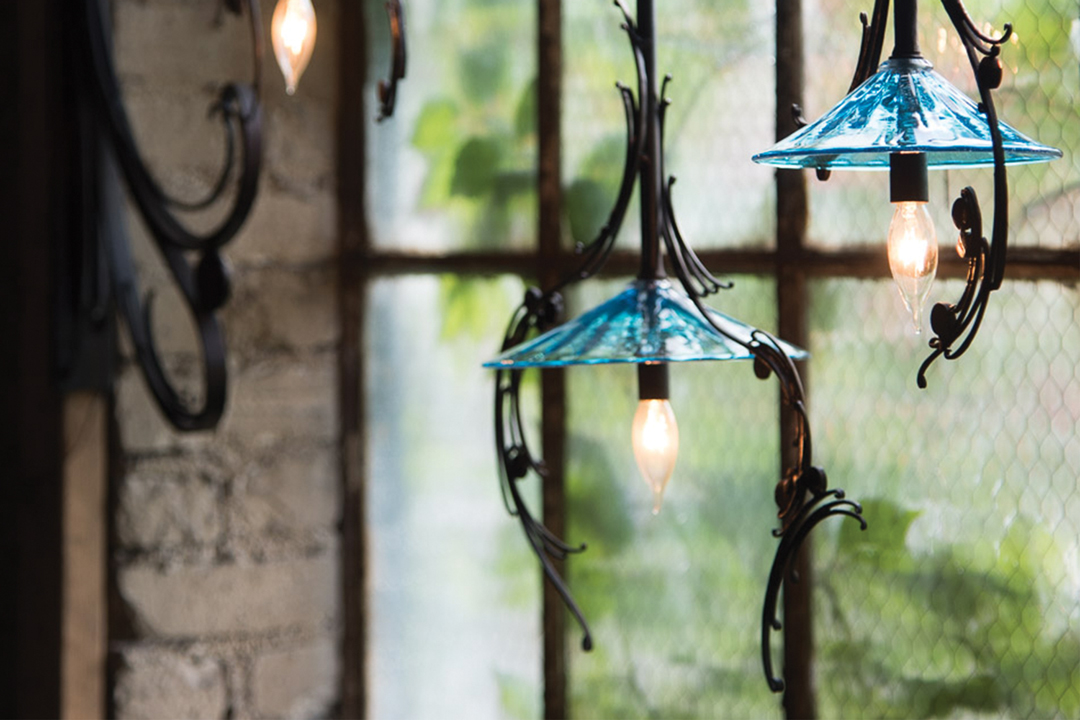 Hanging lights by Elias Metal Studio