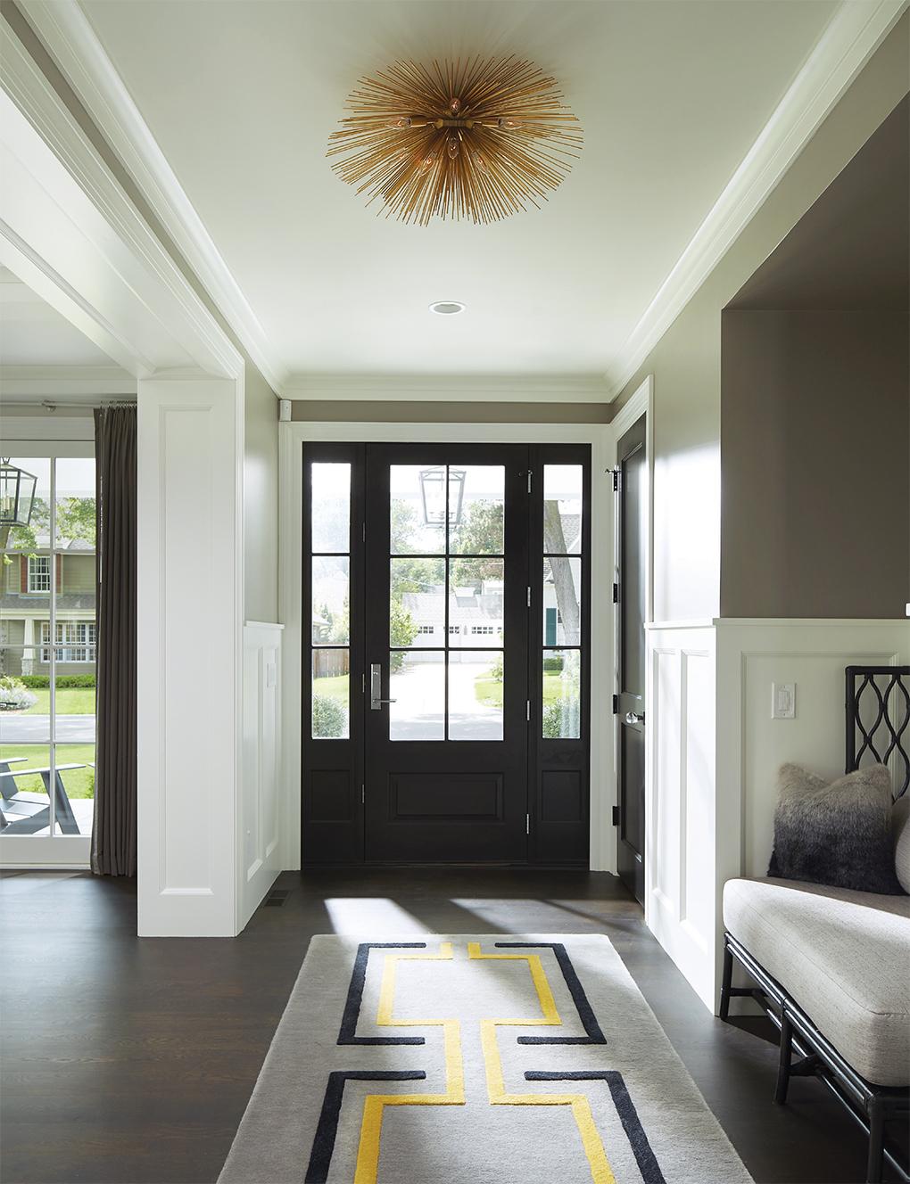 A modern foyer of a home.