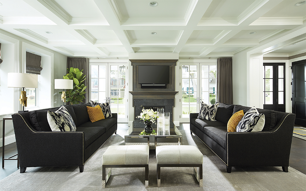 A great room with neutral colors and plenty of seating.
