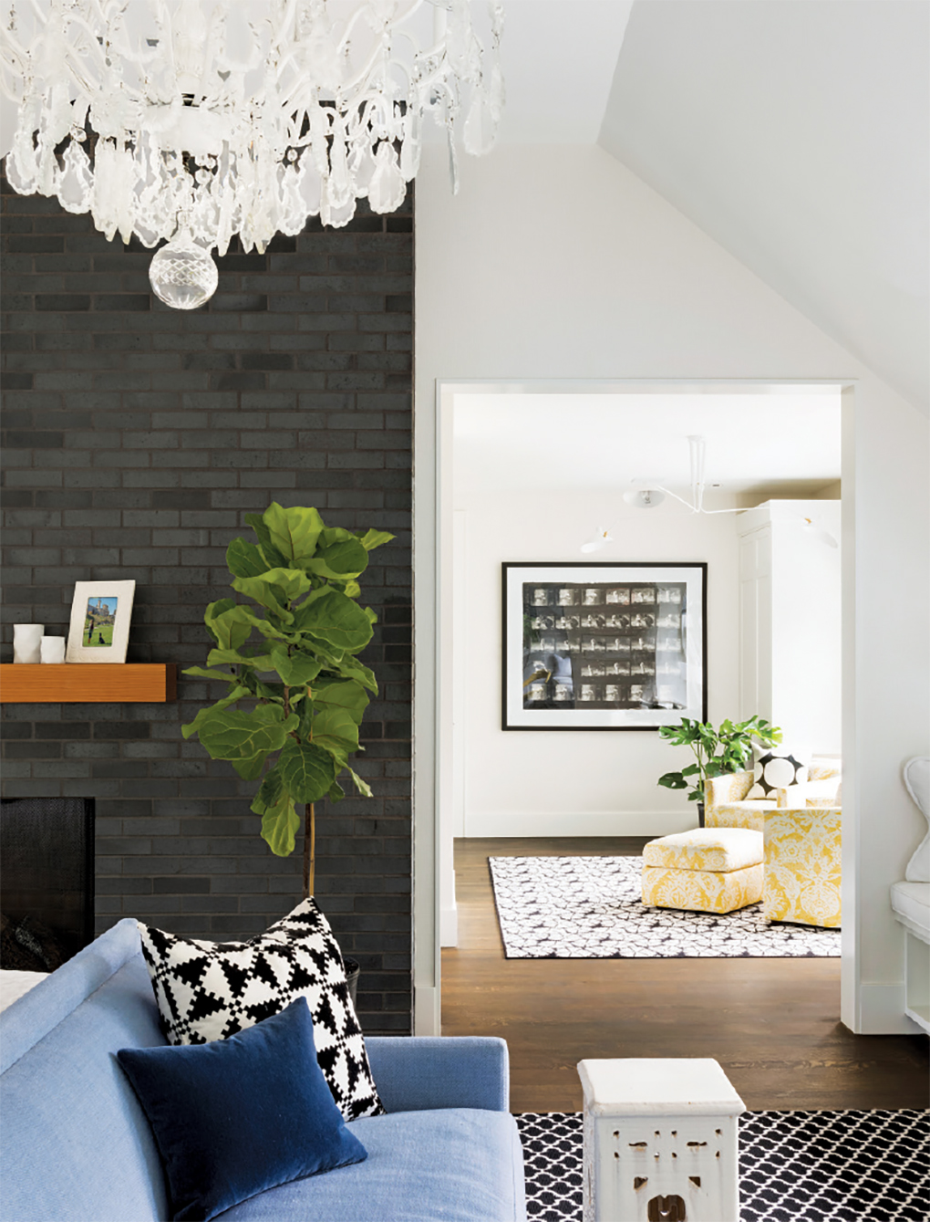 A side room adds an extra space to hang out in this home.