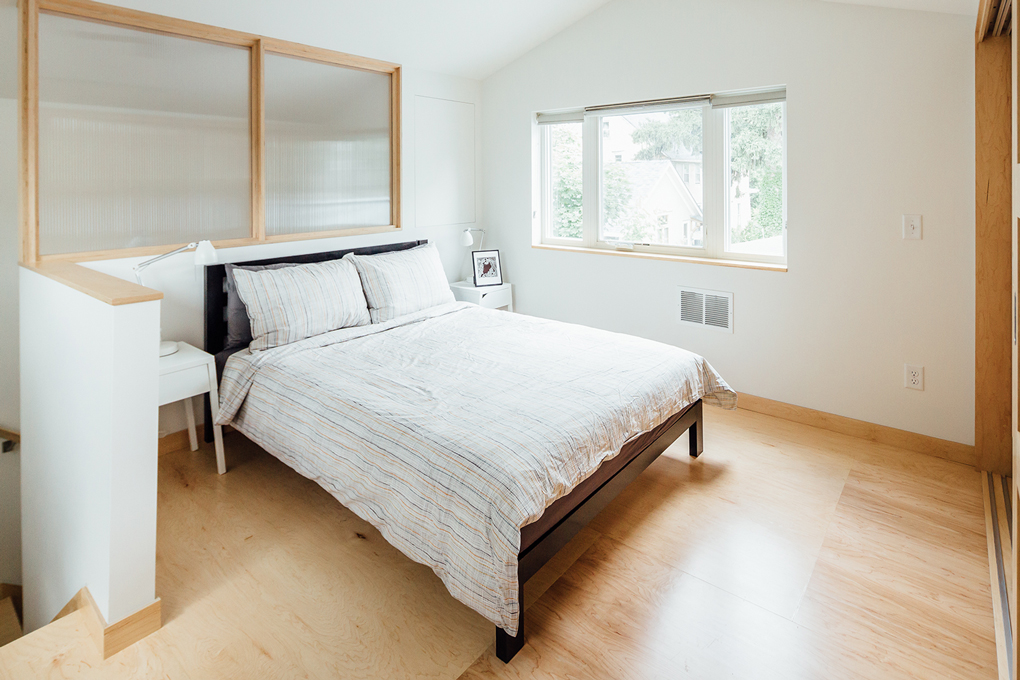 The bedroom in Mette Nielsen's guesthouse.