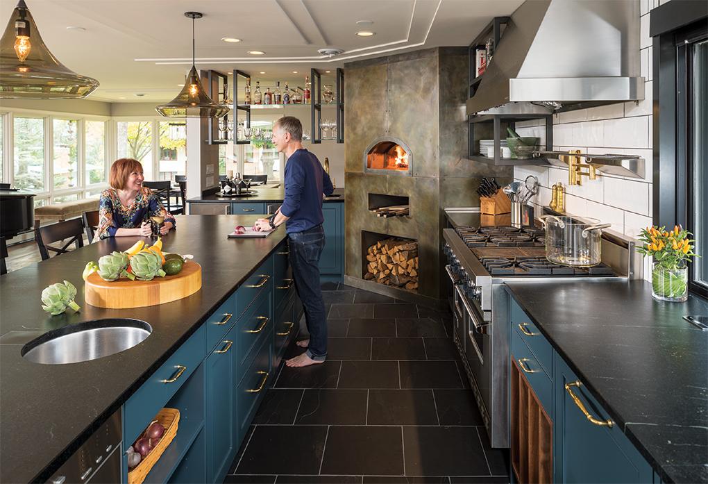 Vicki and Chuck Densinger built their dream kitchen in their 1957 Edina home.
