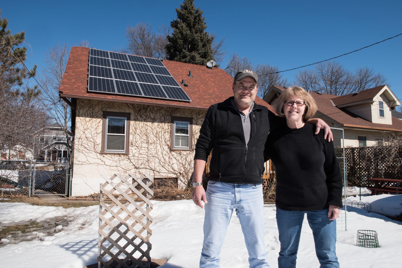 Solar panels on St. Paul house