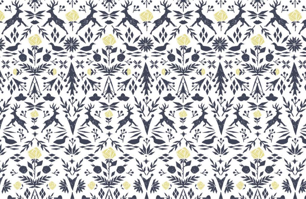 Wallpaper custom-designed by She She for Marvin's lunchroom