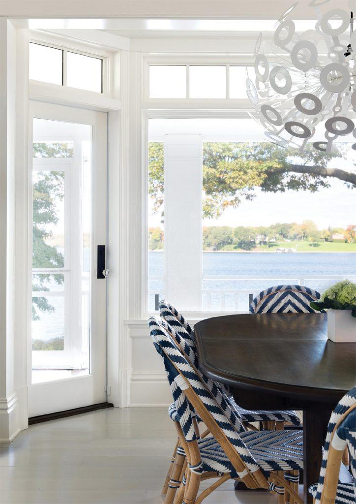 A dining room overlooking Lake Minnetonka.