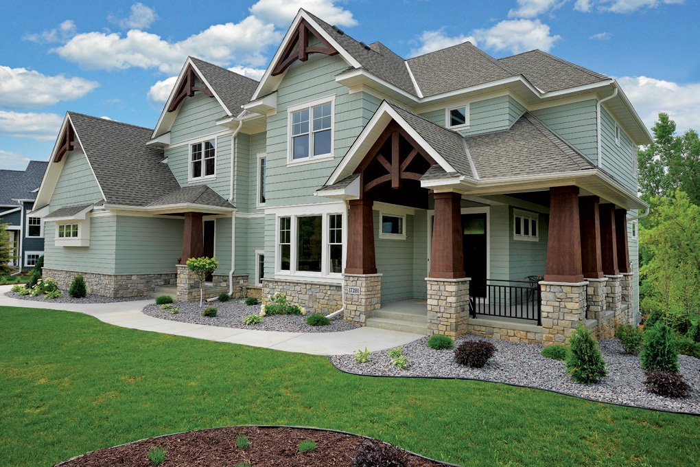 Maple grove craftsman by creek hill custom homes for Midwest exteriors plus maple grove