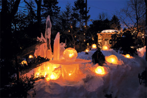 Photo of ice globe lanterns