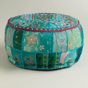 pattern pouf