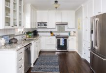 Herrick Design Group ASID white kitchen wood flood
