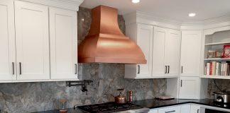 CopperSmith Artisan Range Hood in Kitchen