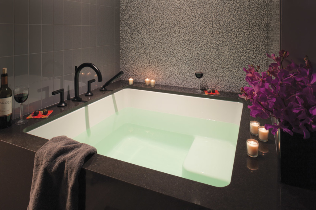 LiLu Interiors Bathroom spa tub